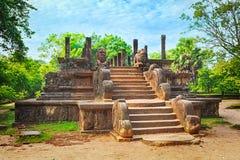 La camera del Consiglio, Polonnaruwa, Sri Lanka Immagine Stock Libera da Diritti