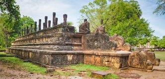 La camera del Consiglio, Polonnaruwa, Sri Lanka Panorama Fotografie Stock
