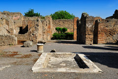 La Camera del poeta tragico, Pompei fotografie stock