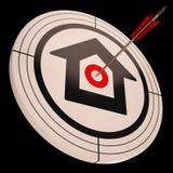 La Camera dell'obiettivo mostra il successo in Real Estate Immagini Stock Libere da Diritti