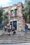 La Camera di Christopher Columbus a Genova, Italia fotografie stock