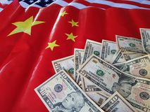 La camera di commercio degli Stati Uniti le chiamate per dare gli accordi commerciali completi completi e può risolvere i problem immagine stock libera da diritti