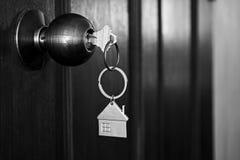 La Camera digita il tono di legno di colore dell'entrata principale in bianco e nero fotografia stock