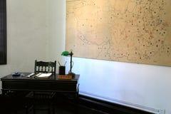 La camera rossa nella città di Wuhan Fotografia Stock