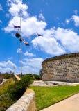 La Camera rotonda: Sito storico con matrice della bandiera immagine stock