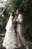 La caminata de recienes casados fotografía de archivo libre de regalías
