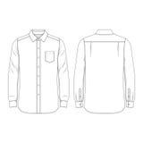 La camisa de los hombres en blanco Fotos de archivo libres de regalías