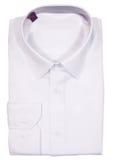 La camisa doblada espacio en blanco de los hombres Aislado en blanco imagen de archivo libre de regalías