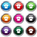 La camiseta con ADV de la impresión fijó la colección 9 stock de ilustración