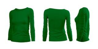 La camiseta de la mujer verde Imágenes de archivo libres de regalías