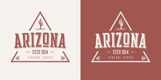 La camiseta y la ropa texturizadas estado del vector del vintage de Arizona diseñan libre illustration