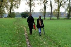 La camminata Fotografia Stock