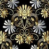 La camomille florale fleurit le modèle sans couture de vecteur principal grec illustration stock