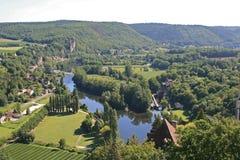 La campagne près de la Saint-Cirq-La-Popie, France Image stock