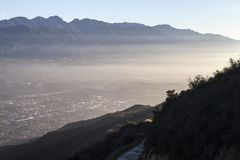 La Canada Flintridge nära Los Angeles Kalifornien royaltyfri fotografi
