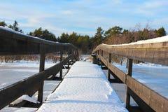 La canalisation de l'hiver Image libre de droits