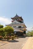 La canalisation gardent (donjon) du château de Kawanoe, Shikokuchuo, Japon Images libres de droits