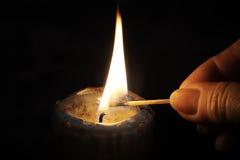 La candela Fotografie Stock