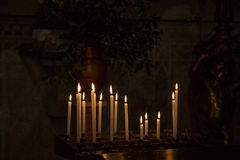 La candela Immagine Stock