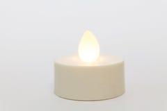 La candela accende il bianco Immagini Stock Libere da Diritti