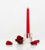 La candela ed è aumentato Fotografia Stock Libera da Diritti