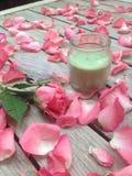 La candela ed è aumentato Fotografie Stock