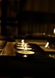 La candela si è illuminata Immagine Stock Libera da Diritti