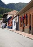 La Candelaria. BOGOTA, COLOMBIA - MAY 06, 2014: The narrow streets of La Candelaria. La Candelaria the historic center of Bogotá. Colombia's capital city was Royalty Free Stock Photography