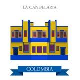 La Candelaria in Bogota Colombia vector flat attraction landmark Royalty Free Stock Photo