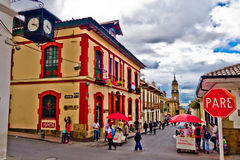 La Candelaria, colonial neighborhood that is a Royalty Free Stock Images