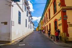 La Candelaria, vizinhança colonial que é a Imagem de Stock Royalty Free