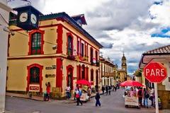 La Candelaria, vizinhança colonial que é a Imagens de Stock Royalty Free