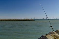 La canne sans pêcheur Diz de ¡ de CÃ, Espagne images stock