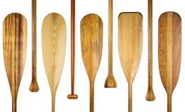 La canoa di legno rema l'estratto Fotografia Stock