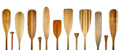 La canoa di legno rema l'insegna astratta Immagini Stock