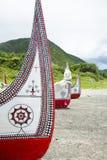 La canoa en Lanyu Imagenes de archivo