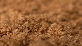 La cantidad gira el fondo seco del azafrán de la especia almacen de video