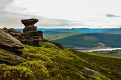 La cantina sbalorditiva del sale, trascurante la bella valle superiore di Derwent, parco nazionale di punta del distretto fotografia stock libera da diritti