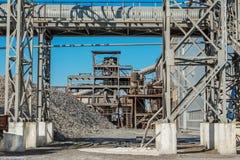La capacidad de producción de fábricas del azúcar Foto de archivo libre de regalías