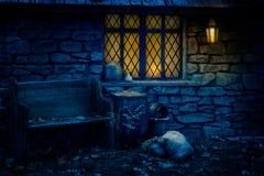 La capanna della strega Immagini Stock Libere da Diritti