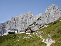 La capanna \ Gruttenhuette alpini \ Immagini Stock Libere da Diritti