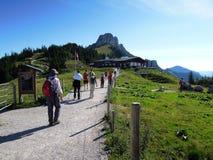 La capanna Sonnen Alm della montagna vicino al Kampenwand massiccio Fotografia Stock Libera da Diritti