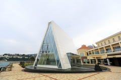 La capilla blanca en la bahía del descubrimiento, Hong Kong Fotos de archivo libres de regalías