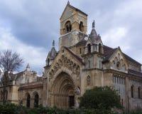 La capilla de Jak - iglesia g?tica en el castillo de Vajdahunyad imágenes de archivo libres de regalías