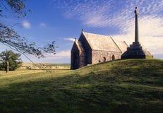 La capilla de Kilmadrine, reflexiona sobre de Galloway, Escocia Fotos de archivo libres de regalías