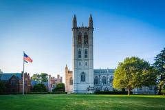 La capilla de la universidad de la trinidad, en la universidad de la trinidad, en Hartford, estafa fotos de archivo