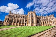 La capilla de San Jorge dentro del castillo de Windsor cerca de Londres, Reino Unido Fotos de archivo