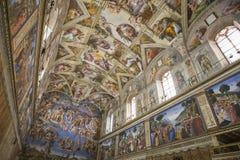 La capilla de Sistine Fotos de archivo libres de regalías