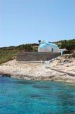 La capilla de St Nicolás en la isla de Plati fotografía de archivo