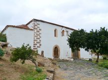 La capilla de un monasterio franciscano anterior Foto de archivo